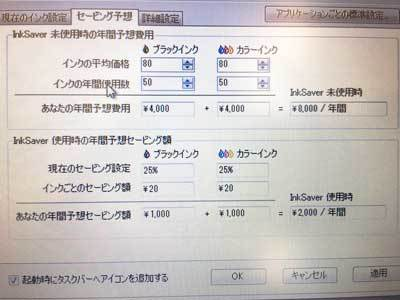 インクセーバー インクコスト削減